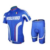 ARSUXEO Mens Cycling Short Sleeves Mountain Bike Jersey Bike Bicycle Sets Cycling Suit