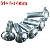 10pcs M4 Steel Hex Hexagon Socket Head Cap Screw 8mm To 16mm Zinc Plated