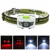 R3+2LED Super Bright Mini Headlamp Headlight Flashlight Torch Lamp 4 Models
