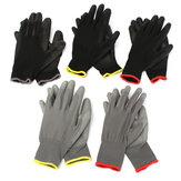 1 Pair PU Palm Coated Nylon Precision Protective Safety Work Gloves Lightweight