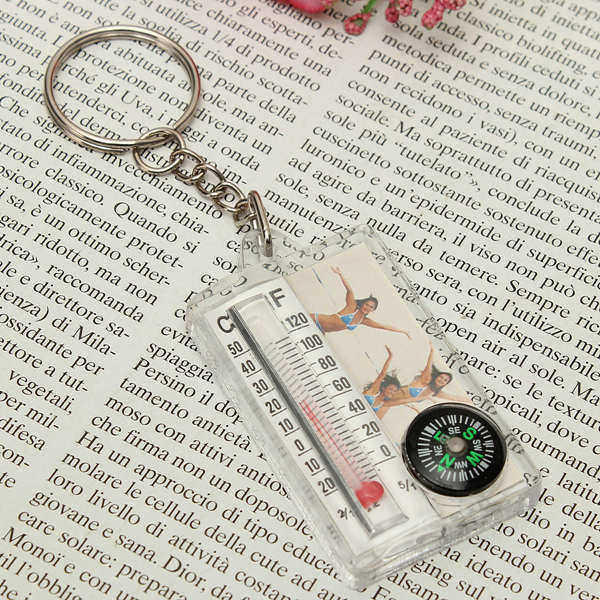 Pocketable Weatherglass & Compass Key Chain