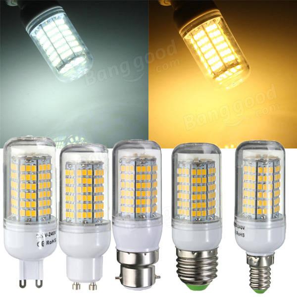 E27/E14/G9/GU10/B22 7W 2880LM 144 SMD2835 LED Corn Bulb Warm/White 220V Home Lamp mini g9 led 7w ac220v 240v g9 led lamp bulb smd2835 led g9 light replace halogen lamp chandelier lights wholesale 50pcs lot