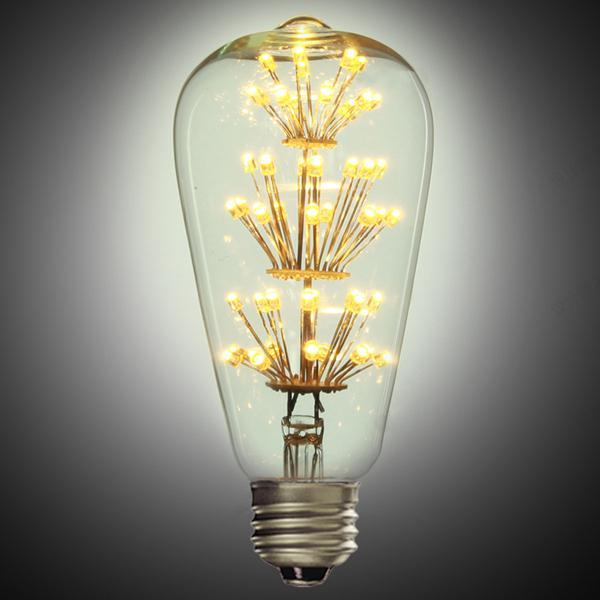 E27 ST64 3W LED Bulb Retro