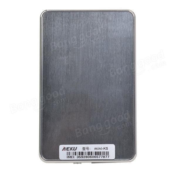 Aeku k5 ультратонкий карманный мини-кредитной карты мобильного телефона
