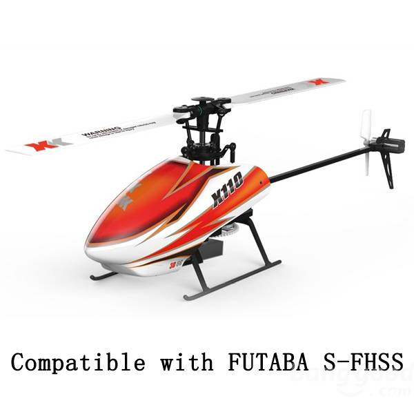 XK K110 Blash 6CH Brushless 3D6G System RC Helicopter RTF high quality xk k110 blash 6ch brushless 3d6g system rc helicopter rtf wltoys v977 upgrade compatible with futaba s fhss