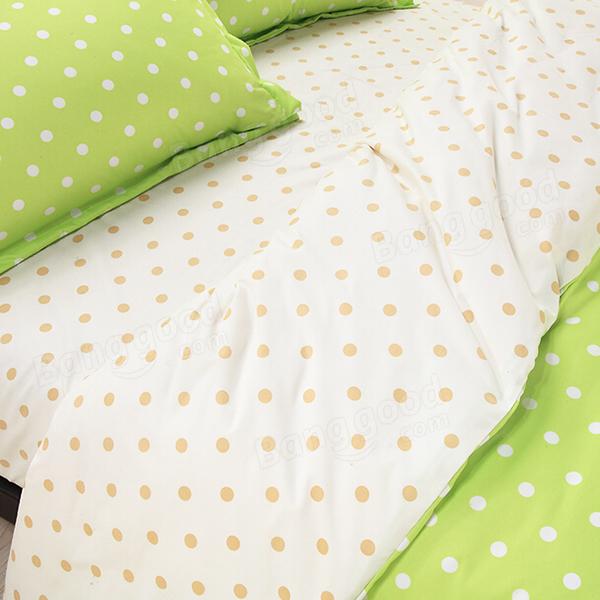 4pcs Polyester Fiber Dot Reactive Printing Bedding Sets