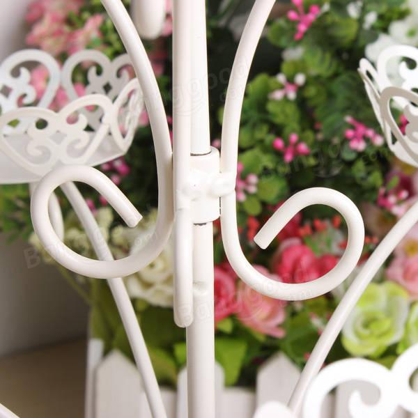Euro Style White Iron Art Cupcake Display Stand Holder