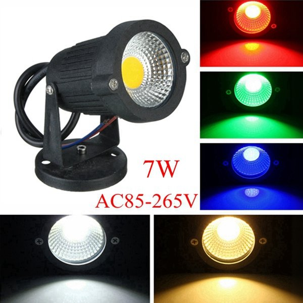 7W IP65 LED Flood Light With Base For Outdoor Landscape Garden Path AC85-265V complete skateboard set chocolate deck