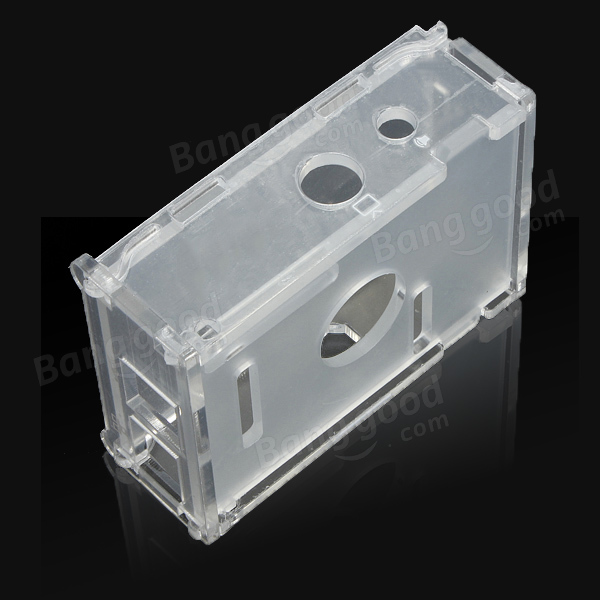 Transparent Acrylic Case + 3pcs Aluminum Heat Sink For Raspberry Pi B