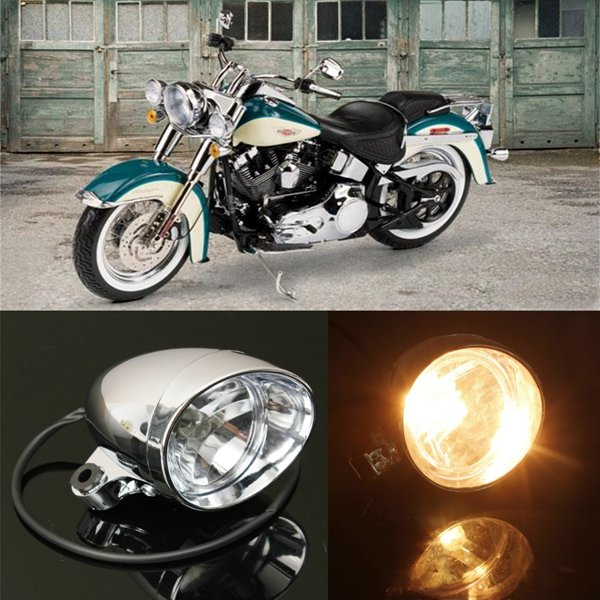 Motorcycle Front Headlight Lamp For Harley Honda Yamaha Suzuki Kawasaki universal cnc aluminum adjust motorcycle steering damper moto steer parts for yamaha yzf r6 suzuki kawasaki honda accessories
