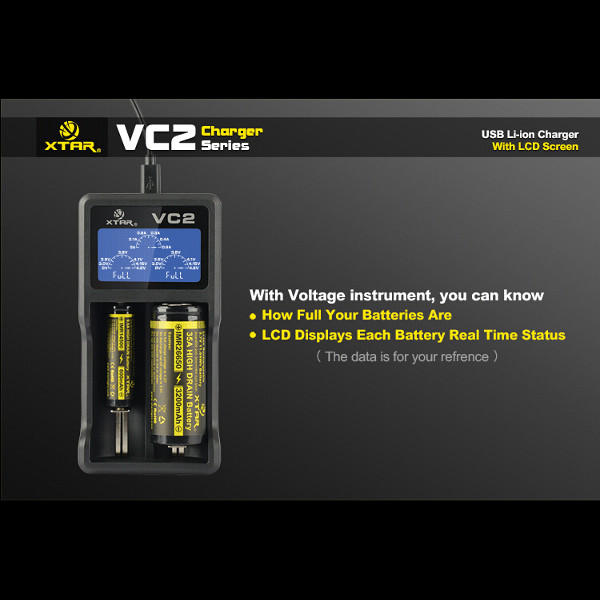 XTAR VC2 Charger With LCD Screen