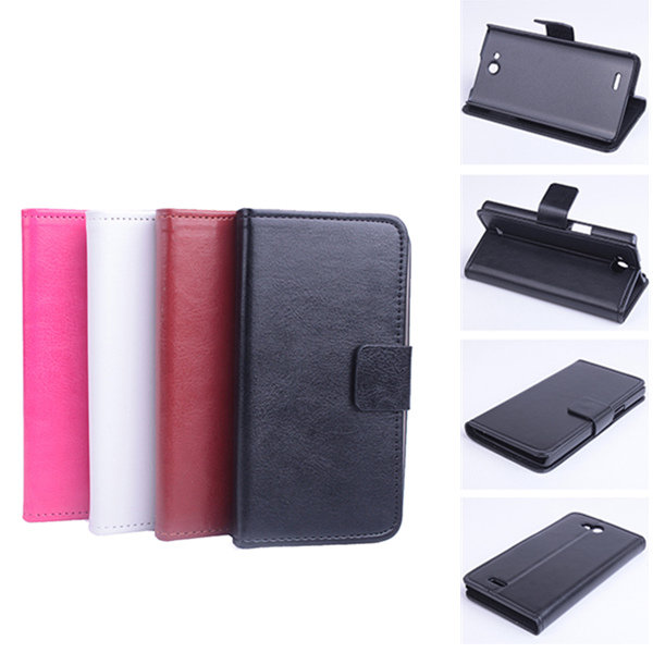 Flip Pu Leather Protective Stand Case Cover For Philips W3500 flip pu leather protective stand case cover for zte blade l2