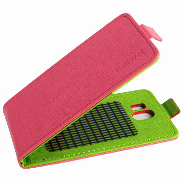 Hit Color Flip PU Leather Protective