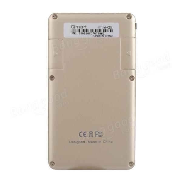 Qmart Q5 ультра-тонкий mtk6261da 280mAh 2g карманные карты мобильного телефона