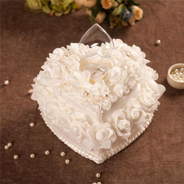 Wedding Favors Romantic Pearl Rose Heart