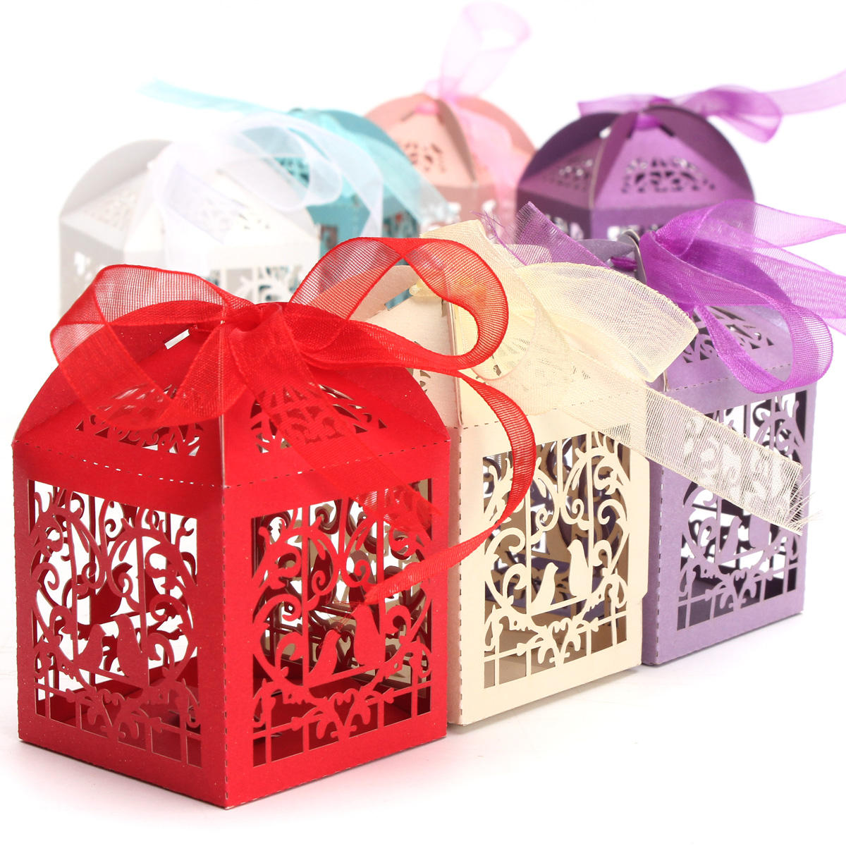 10pcs Pierced Birdcage Candy Sweet Gift