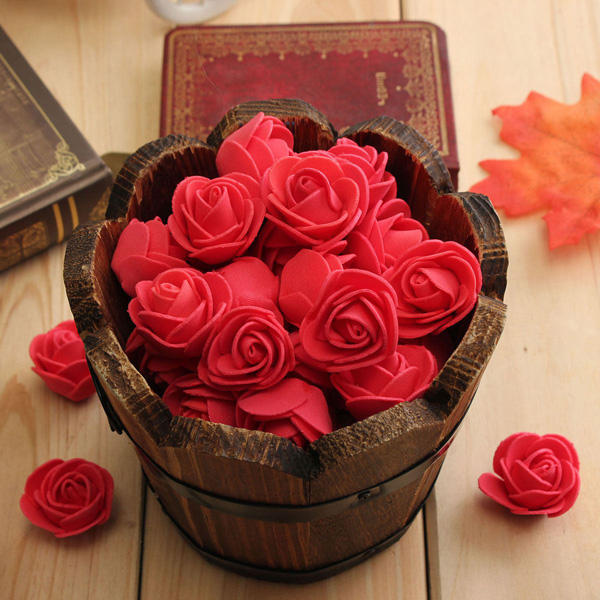 50pcs 2.5cm Artificial Roses PE Foam