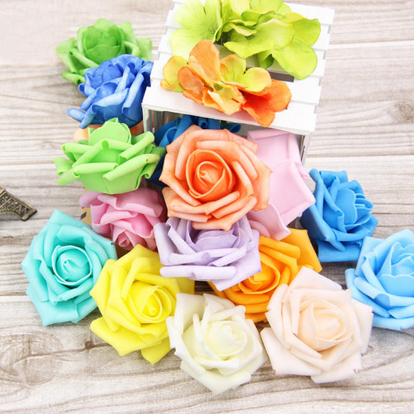 50pcs 7.5cm Artificial Simulation Foam Rose
