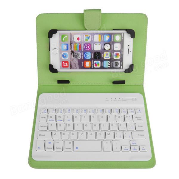 Universal Bluetooth Wireless Keyboard PU Leather
