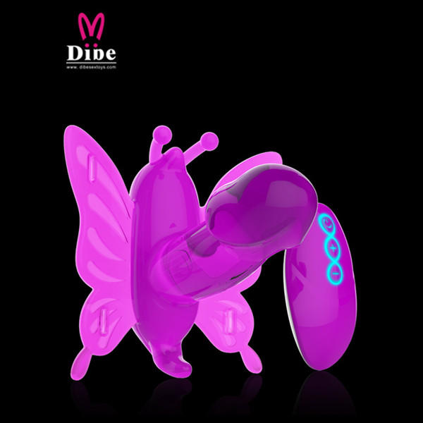 Dibe Strong Power Dual Motor Vibrator 20 Meters Wireless Remote Control Butterfly Wearable Massager