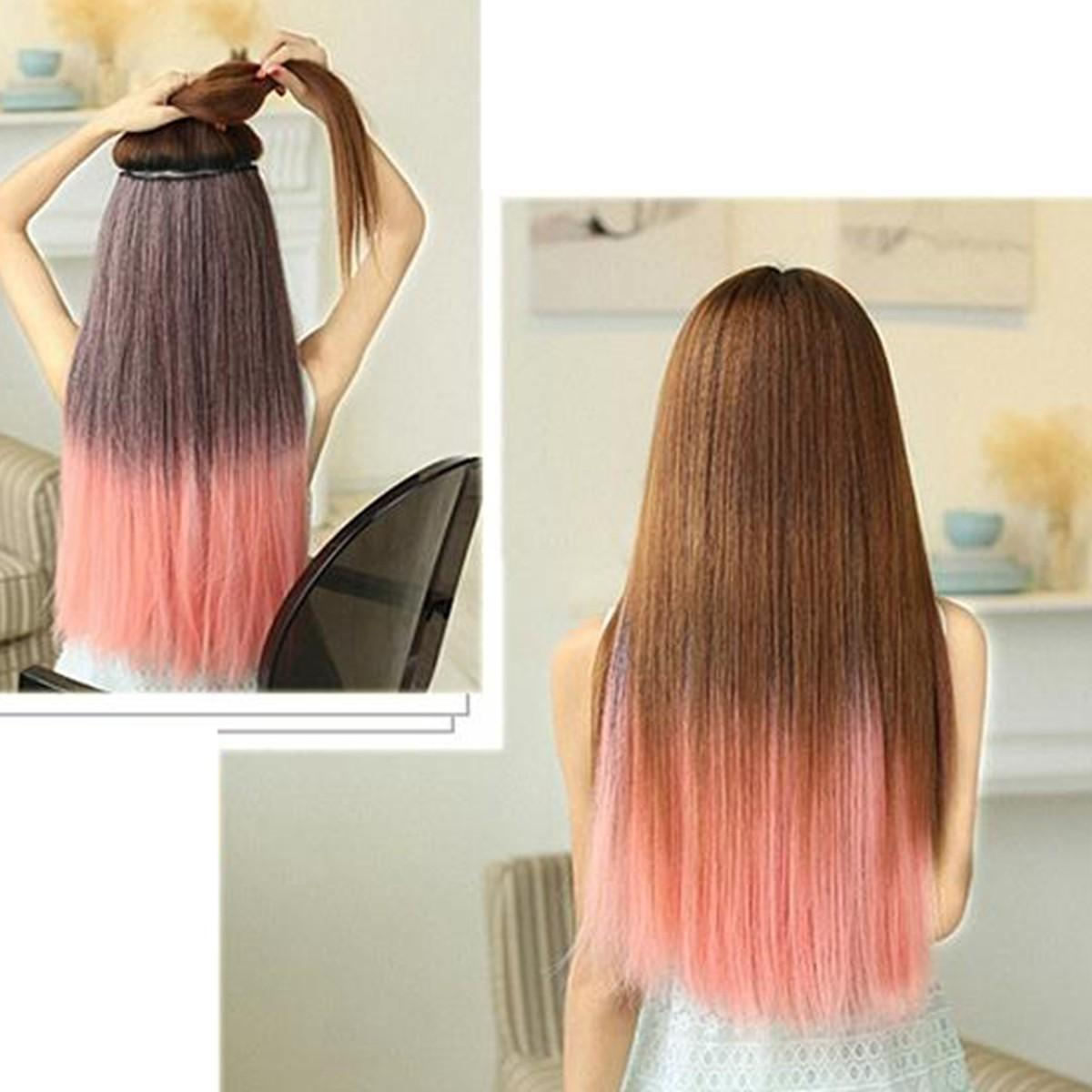 Gradient Color Women Straight Curly Full