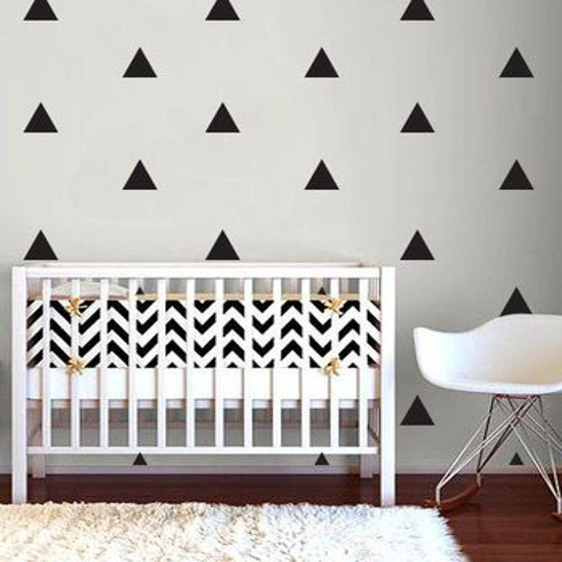 1 Set 10 Triangles Wall Decals Wall Stickers Home Room Wall Party D...