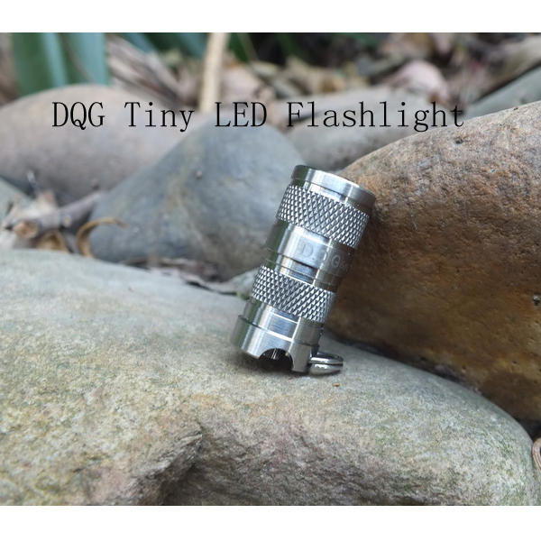 DQG SPY CREE XP-G2 R5 4C Neutral White Tiny Titanium LED Flashlight fenix cree xp e2 r5 led 450lumens 4aa batteries headlamp headlight