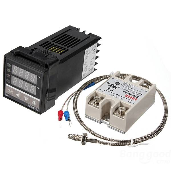 REX-C100 220V Digital PID Temperature Controller Kit леска allvega all round x5 цвет прозрачный 100 м 0 5 мм 16 77 кг