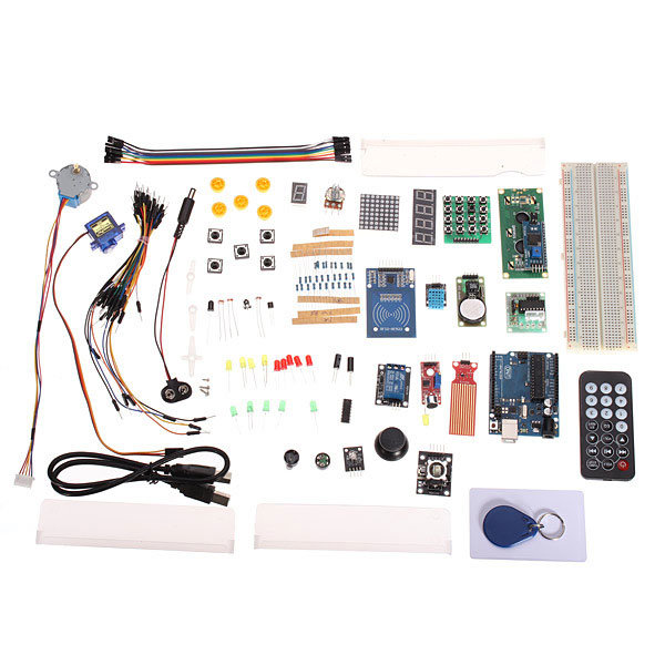 Arduino Compatible UNO R3 Starter Kit Set Upgraded Version With RFID geekcreit™ uno basic starter learning kit upgrade version for arduino