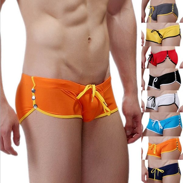 Mens Swimwear Low-waist Swimming Trunks Rivet Fashion Swimsuit