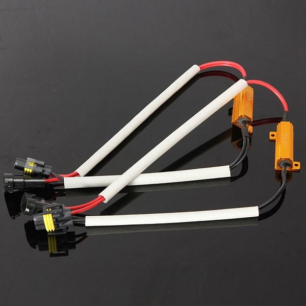 H11 Load Resistor Wiring Harness for SMD LED Light Bulb OBC Error
