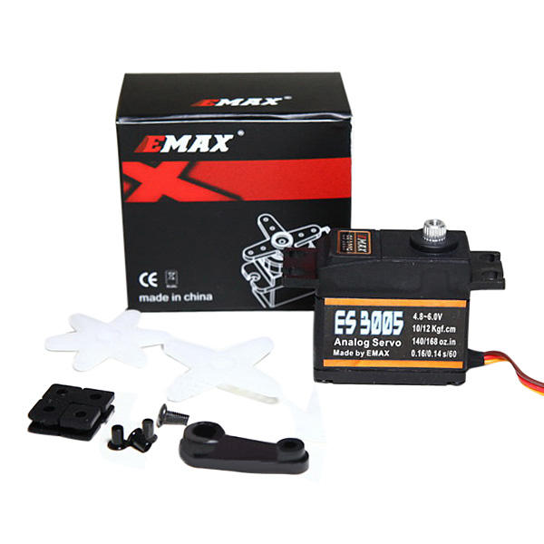 EMAX ES3005 42g Metal Analog Servo for RC Airplane Waterproof jx pdi 5521mg 20kg high torque metal gear digital servo for rc model