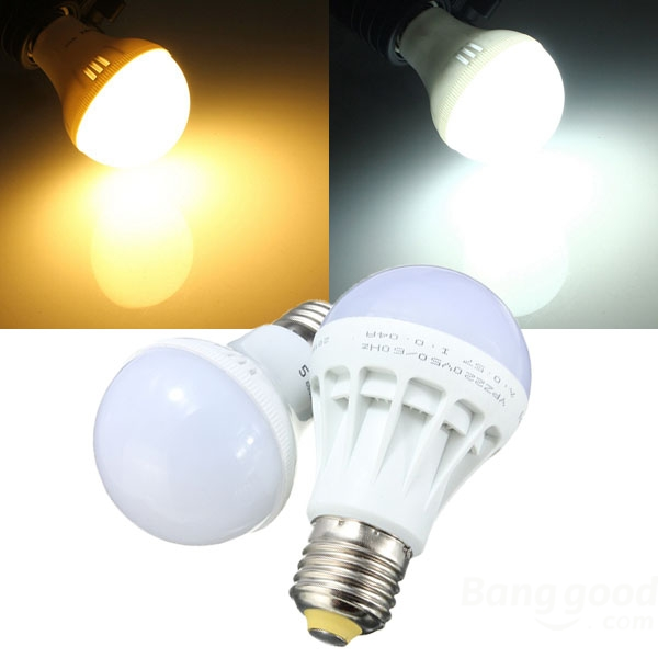 E27 Energy Saving LED Bulb Light Lamp 5W SMD 5630 White/Warm White AC 220V mr11 led spotlight dc 12v 3w 5w 5730 smd led lamp bulb energy saving led spot light bulb cool white white warm white gu4