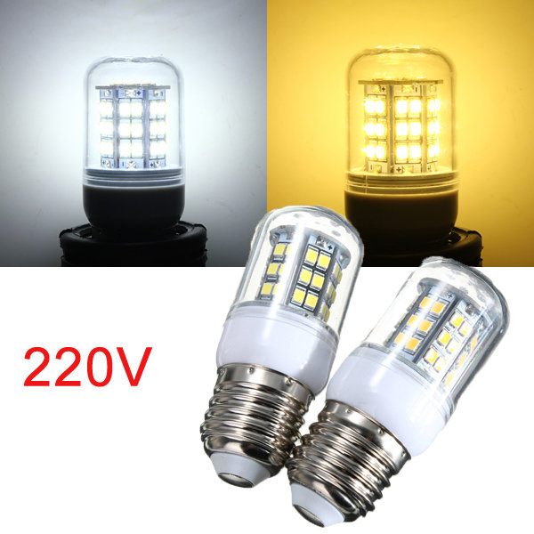 E27 3W Warm White/White 48 LED 2835 SMD Corn Light Bulb Lamp 220V white