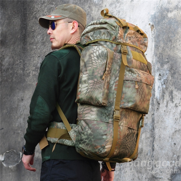 Tactical Military Trekking Camping Hiking Rucksack Camouflage Backpack