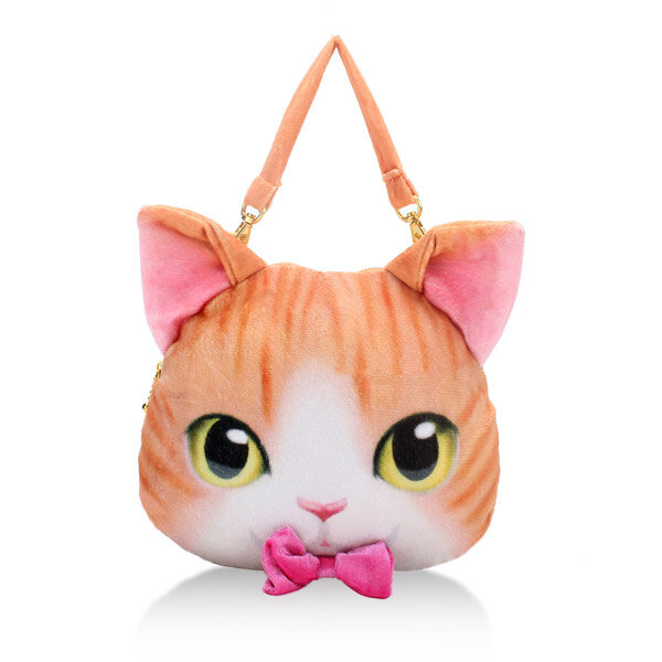Women Lovely Cat Bowknot Mini Coin Purse Zipper Wallet Handbag Crossbody Card Holder simple fashion zipper coin purse cute cat women purse tassel short wallet ladies small change card holder new year gift popular