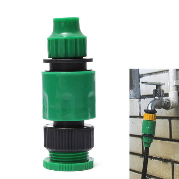 1/2 Or 3/4 Inch Garden Micro Hose Quick Joint Tap Connector Fitting