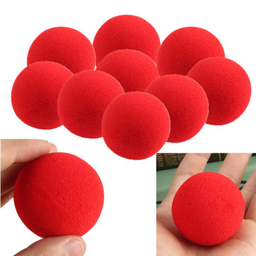 10pcs close-up tour de magie de rue éponge douce balle props nez de clown