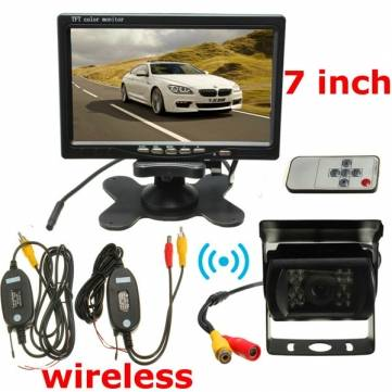 Buy Wireless 7inch LCD Monitor & 18 LED IR Rear View Reversing Camera Night Version Kit