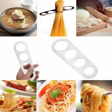 Di pasta di acciaio tagliatelle righello di spaghetti misuratore strumento di misurazione limitatore di acciaio