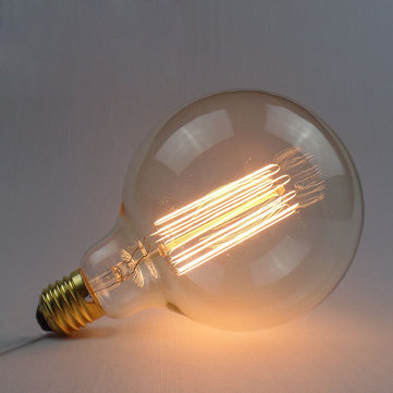 Incandescent Bulb E27 40W 220V G125 Globe Retro Edison Light Bulb