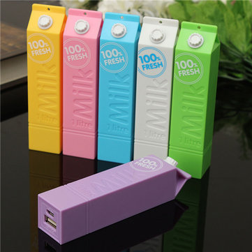 DIY 1*18650 Milk Box Battery Power Bank Charger Box For iPhone