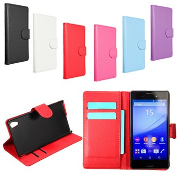 Buy Magnetic PU Leather Flip Wallet Case PC Hard Cover Stand Sony Xperia M4 Aqua