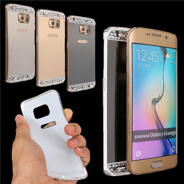 Buy Bling Diamond Mirror TPU Soft Gel Case Cover Samsung Galaxy S6 Edge