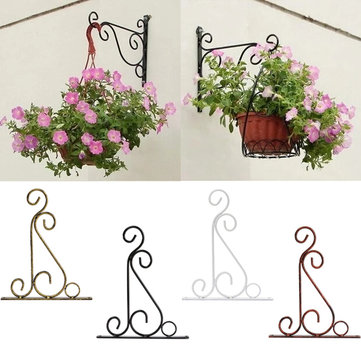 Classic Romantic Wrought Iron Flower Stand Hook Wrought Iron Plants Pots Hooks