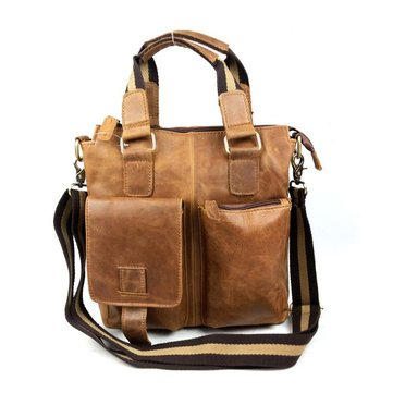 Натуральная кожа мужчины сумки на плечо портфель бизнес сумки Messenger