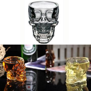 100ml tazza di vetro testa libera del cranio chiaro tazza di vodka whisky