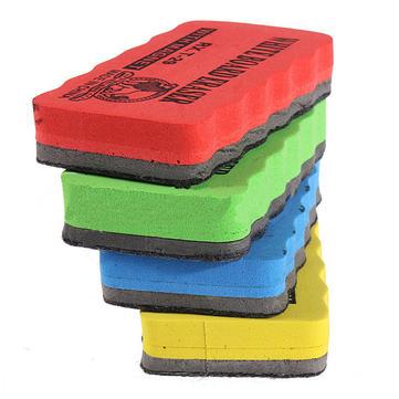 4Pcs School Office Magnetic Dry Wipe Whiteboard Cleaner Eraser Brush