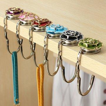 Flower design tavolo della borsa gancio supporto della borsa pieghevole gancio