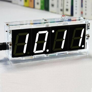 Geekcreit® Fai da Te 4 Cifre LED Orologio Elettronico Kit Versione Luminosità Controllata e Temperatura